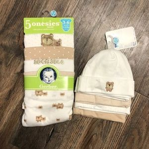 Baby onesies with matching hats!